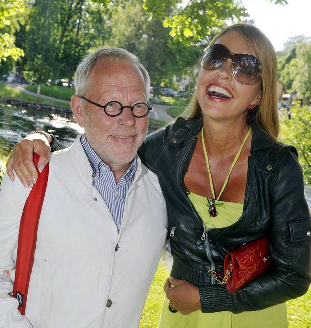 Ristomatti Ratia ja Anu Saagim Savonlinnan oopperajuhlilla.