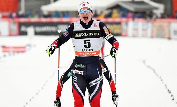 Marit Björgen tavoittelee kolmea MM-kultamitalia.