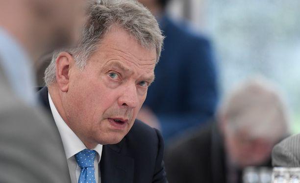 Presidentti Sauli Niinistö on vierailulla Mikkelissä. Arkistokuva.