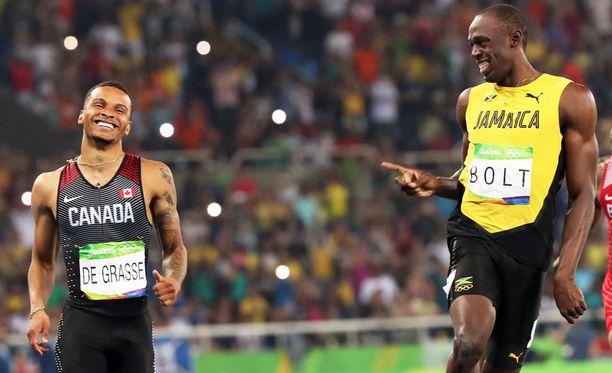 Andre De Grassen ja Usain Boltin välinen taisto oli mukana CBC:n vuoden kuvissa.
