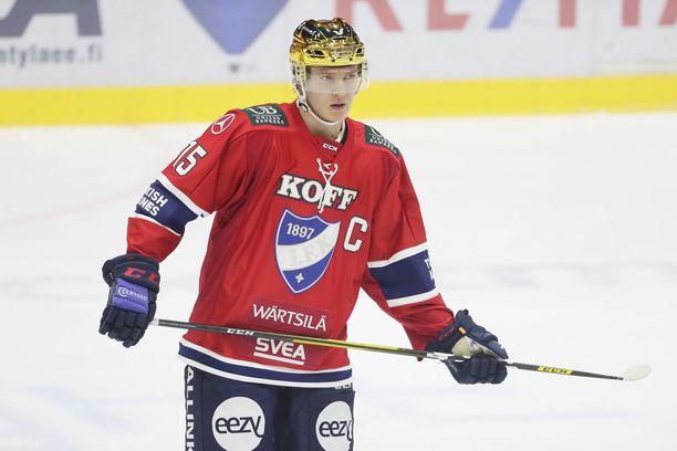 Anton Lundell on HIFK:n kultakypärä.