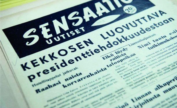 Sensaatio Uutiset -niminen lehti perustettiin varta vasten parjaamaan Urho Kekkosta.