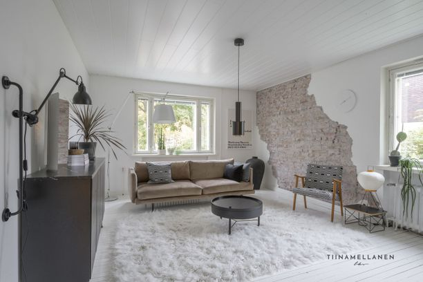Kodissa on design-esineitä ja omaperäisiä ideoita.