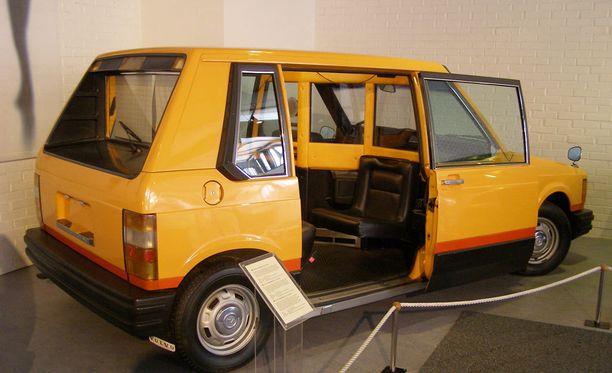 Volvo design-taksissa kuljettaja sai olla suojaavan seinän takana.