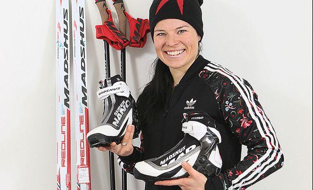 Harrastajahiihtäjillä on mahdollisuus hankkia MM-mitalisti Krista Pärmäkosken, Heidi Wengin ja muiden tuttujen maailmancuphiihtäjien käyttämiä suksia.