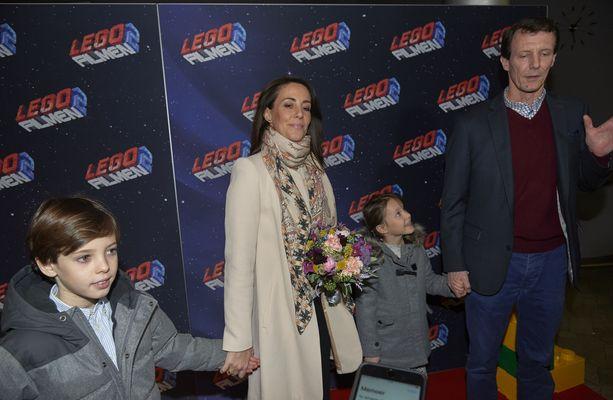 Tanskan prinssiperhe osallistuivat maaliskuussa Lego-elokuvan ensi-iltaan.
