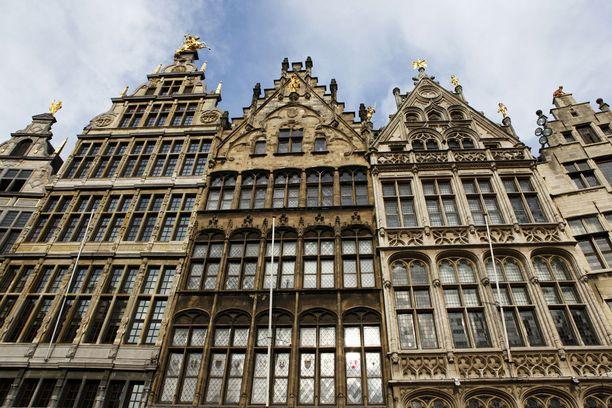Antwerpenin vanhaa keskustaa.