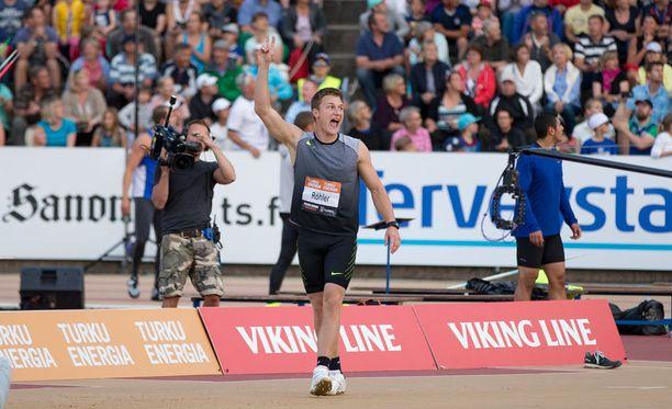 Keihäänheiton olympiavoittaja Thomas Röhler nähdään Turussa kesäkuun alussa. Kuva vuodelta 2016.