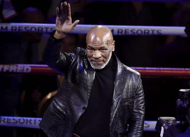 Mike Tyson valmistautuu paluuotteluunsa Roy Jones junioria vastaan.