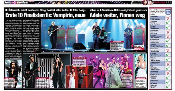 Österreich-lehden sisäsivuilla nostettiin myös PKN esille.