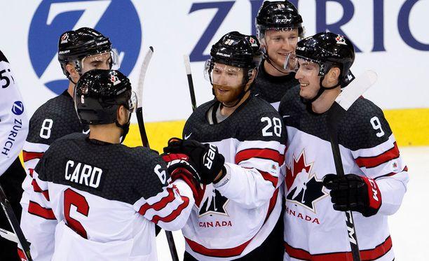 Kanadan juhlat MM-kisoissa jatkuivat Valko-Venäjää vastaan.