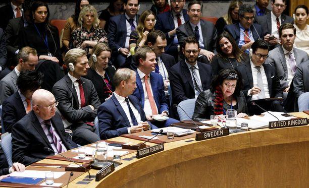 Venäjä kaatoi USA:n ehdotuksen veto-oikeudellaan.