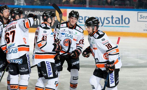 HPK nousi 8-7-jatkoaikavoittoon todella hämmentävässä liigaottelussa Raumalla.