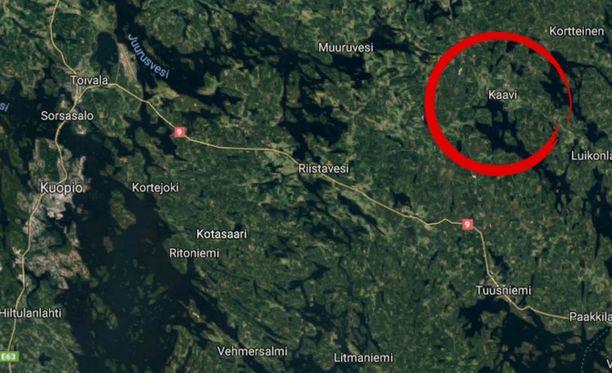 Onnettomuus tapahtui Kaavissa. Uhreja hoidetaan Kuopion yliopistollisessa sairaalassa.