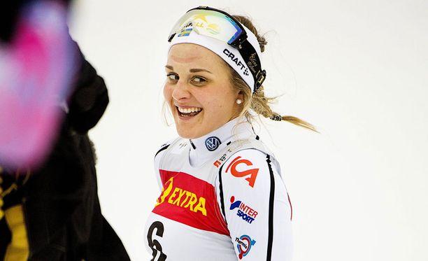 Stina Nilsson nappaisi kultamitalista 150 000 kruunua.