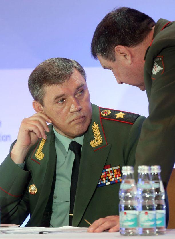 Kenraali Valeri Gerasimov on Venäjän asevoimien yleisesikunnan päällikkö ja varapuolustusministeri.