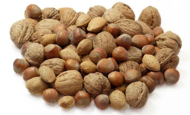 Pähkinät ovat kaloripitoisia.