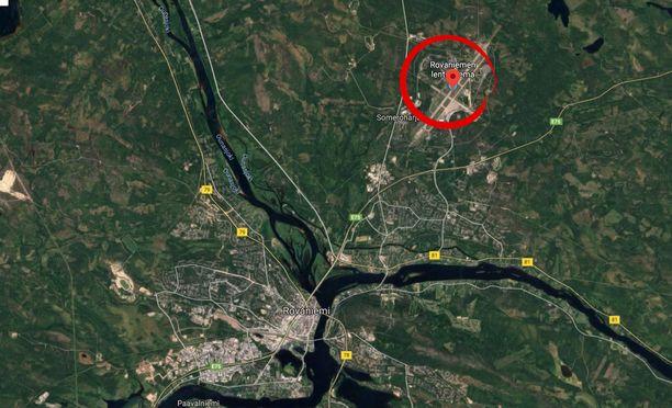 Pienkone on pudonnut noin kilometrin päähän Rovaniemen lentokentältä.