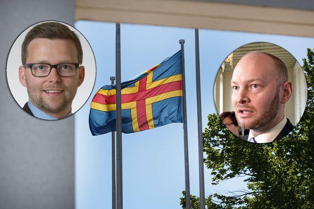 Ahvenanmaan kansanedustaja Mats Löfström on tyytyväinen hallituksen esitykseen. Sampo Terho ei ole samaa mieltä.