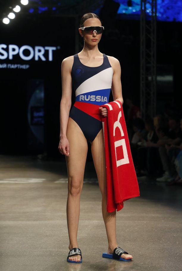 Venäjän pitäisi kisata Tokion olympialaisissa neutraalin lipuna alla, mutta näistä kisa-asuista sitä ei näe.