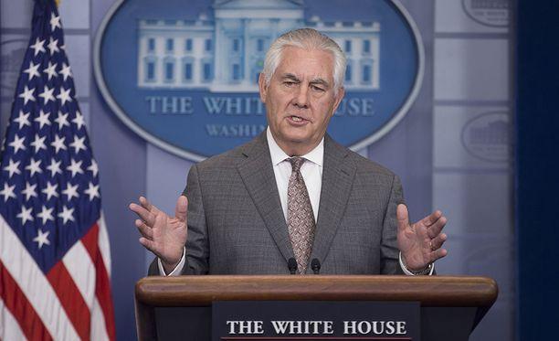 Yhdysvaltain ulkoministeri Rex Tillerson vaatii entistä tiukempia pakotteita Pohjois-Koreaa vastaan.