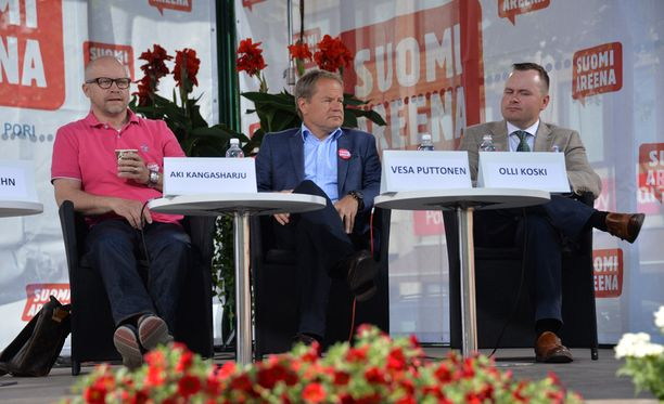 Nordean pääekonomisti Aki Kangasharju ja Aalto-yliopiston rahoituksen professori Vesa Puttonen keskustelivat Kreikan tilanteesta Porissa.
