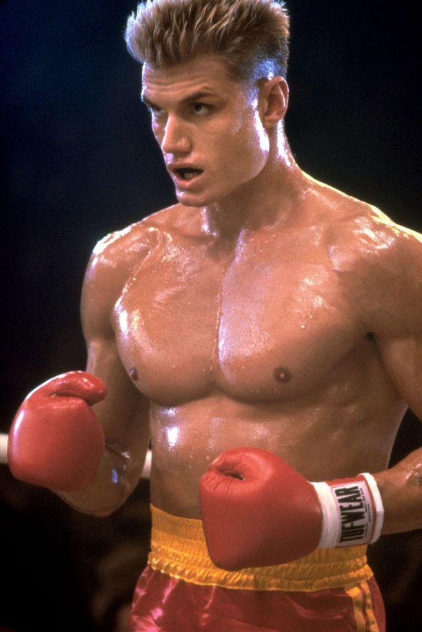 Dolph Lundgren nähtiin Rocky IV -elokuvassa pahiksen roolissa.