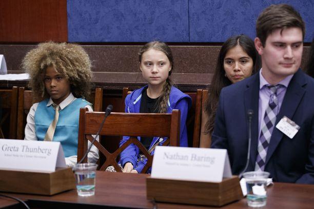 Thunberg osallistui eilen tapaamiseen Yhdysvaltojen senaatissa.