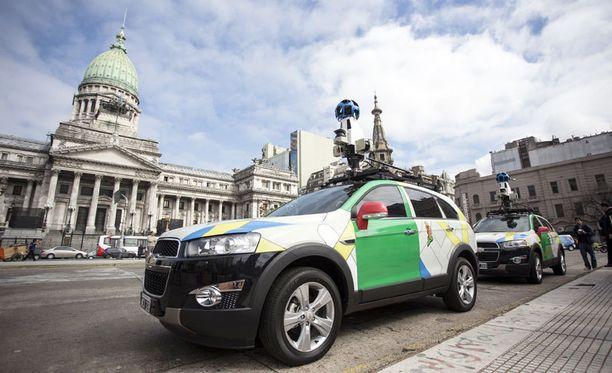 Google Street View -autoja Buenos Airesissa.