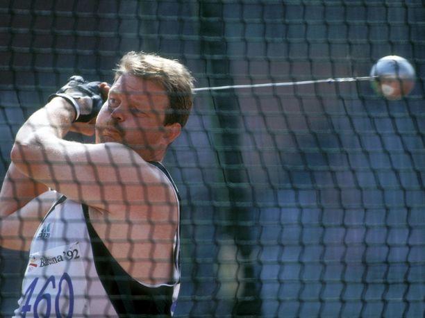 Jüri Tamm heitti Barcelonan olympiamoukarissa viidenneksi.