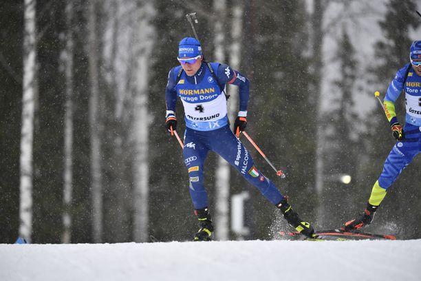 Lukas Hofer oli hyvässä lyönnissä ÖÖstersundin laduilla.