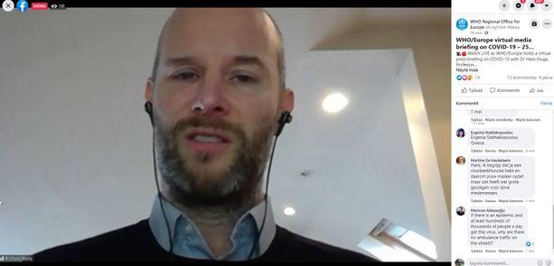 Richard Roels kertoi WHO:n tiedotustilaisuudessa elämästään kuukausia kestäneiden oireiden kanssa.