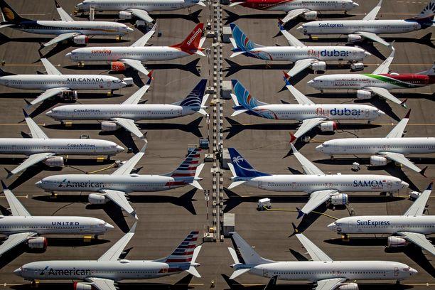 Boeingin 737 Max -koneet ovat olleet lentokiellossa maaliskuusta 2019.