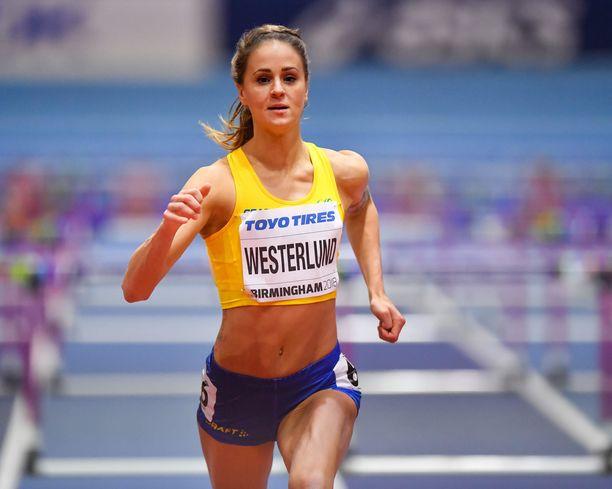 Elin Westerlund kisasi Birminghamissa MM-hallikisoissa 2018.