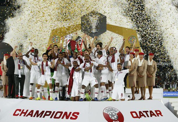 Qatar voitti helmikuussa Aasian mestaruuden kaatamalla juuri Japanin finaalissa.