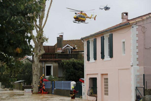 Ainakin kuusi ihmistä sai surmansa tulvissa Aude-joen lähellä Ranskassa