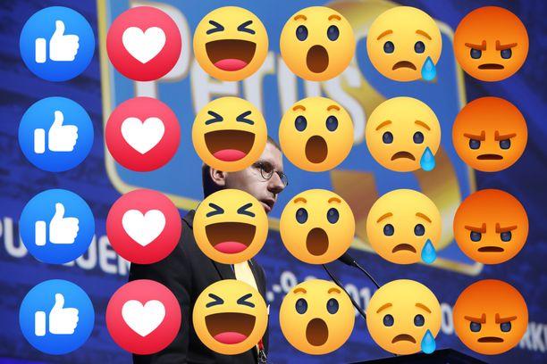 Perussuomalaisia kannattelevat Facebookissa varsinkin vihaiset reaktiot ja kansanedustaja Sebastian Tynkkynen.