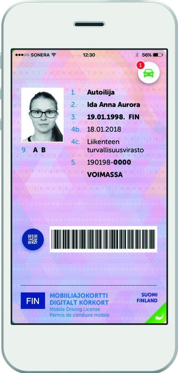 Ensimmäisiä mobiiliajokortteja testataan paraikaa.