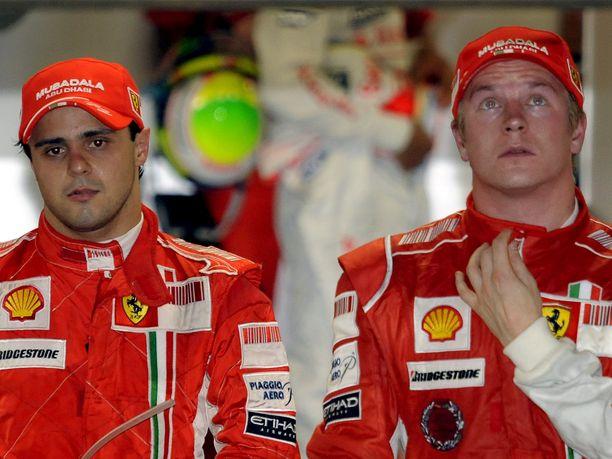 Felipe Massa ja Kimi Räikkönen ajoivat tallitovereina vuosina 2007-2009. Ensimmäisellä yhteisellä kaudella tallin ykkösori oli yhden pisteen erolla maailmanmestariksi kruunattu Räikkönen. Toisella kaudella oli Massan vuoro yrittää, mutta brasilialainen jäi toiseksi niin ikään yhden pisteen erolla.