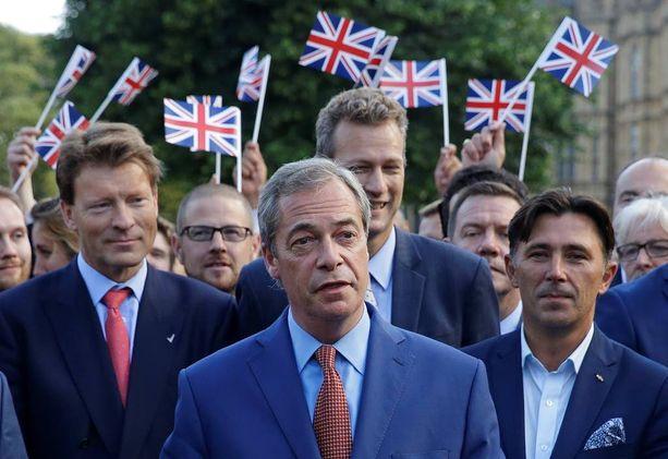 Nigel Farage on Britannian itsenäisyyspuolueen puheenjohtaja.