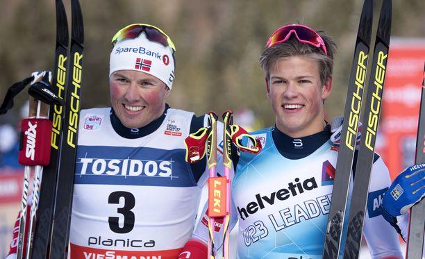 Emil Iversen ja Johannes Kläbo vaikenivat kohuvideosta.