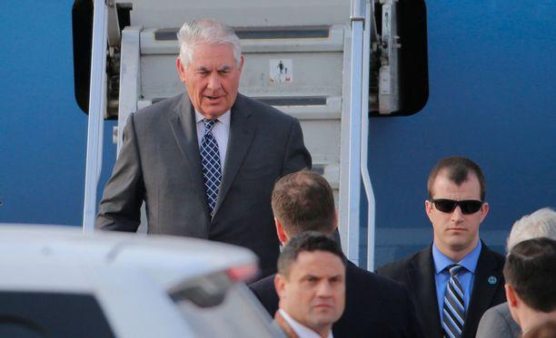 Ulkoministeri Rex Tillerson saapui Moskovaan Italiasta G7-kokouksesta.