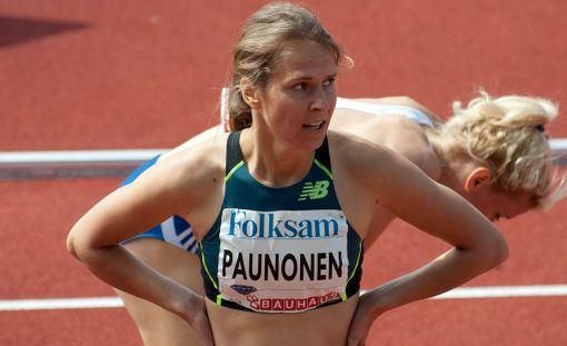 Aino Paunonen kilpaili pyhänä Tukholmassa.