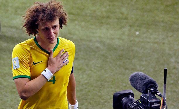 David Luiz todisti Saksan maaleja aitiopaikoilta.