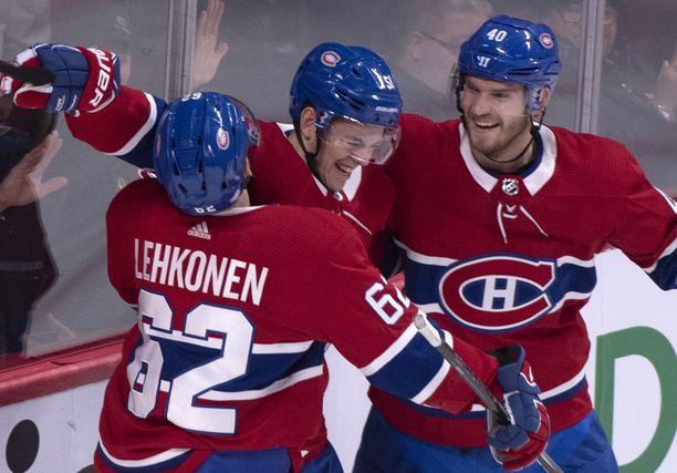 Winnipeg Jetsin Patrik Laine saa alkavalla kaudella pelata ihan riittävästi Montreal Canadiensin Artturi Lehkosta, Jesperi Kotkaniemeä ja Joel Armiaa vastaan.