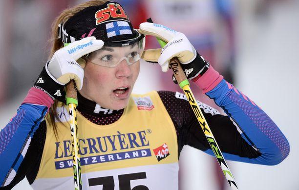 Mona-Liisa Nousiainen edusti Suomea neljästi MM-kisoissa.