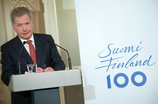 Tasavallan presidentti Sauli Niinistö piti tiistaina tiedotustilaisuuden Suomen 100-vuotisjuhlavuoden tapahtumista.