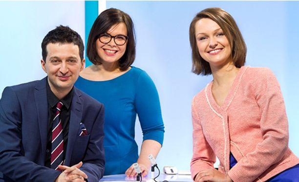 Novosti Ylen juontajat ovat Levan Tvaltvadze , Lioubov Shalygina ja Katja Liukkonen.
