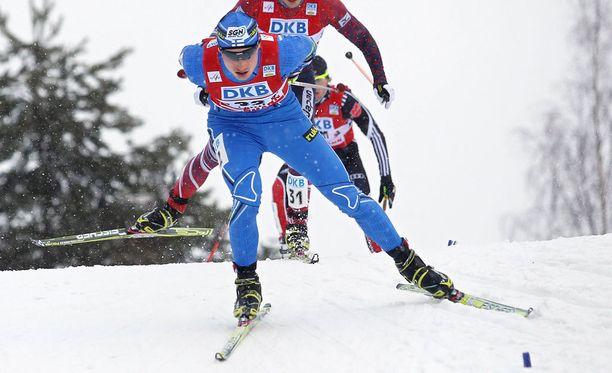 Hannu Manninen oli hiihto-osuudella neljänneksi nopein. Hän hävisi hiihto-osuuden nopeimmalle vain reilut kymmenen sekuntia.