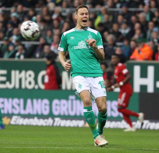 Niklas Moisanderin ilta Bayernia vastaan oli umpisurkea.